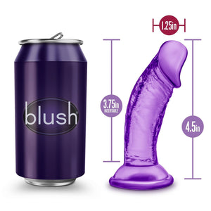 Blush Novelties B Yours Sweet N Small 4 Inch Dildo with Suction Cup Purple Dildos - Suction Cup Dildos Blush Novelties
