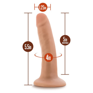 Blush Novelties Dr. Skin 5.5 Inch with Suction Cup (Newly Replenished) Dildos - Suction Cup Dildos Blush Novelties