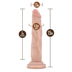 Blush Novelties Dr. Skin Cock Basic 7.5 Inch Beige Dildos - Suction Cup Dildos Blush Novelties