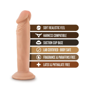 Blush Novelties Dr. Skin Dr. Small 6 Inch Dildo with Suction Cup Dildos - Suction Cup Dildos Blush Novelties