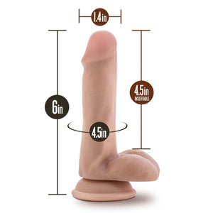 Blush Novelties Loverboy Ranger Rob 6 Inch Cock Vanilla (Newly Replenished) Dildos - Suction Cup Dildos Blush Novelties