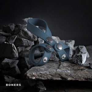 Boners 8-Style Ball Splitter Cock Rings - Ball Dividers/Stretchers Boners