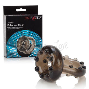 CalExotics All Star Enhancer Double Stamina Ring For Him - Cock Rings Calexotics