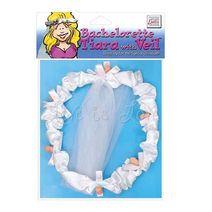 CalExotics Bachelorette Tiara With Veil (Popular Veil Gift)