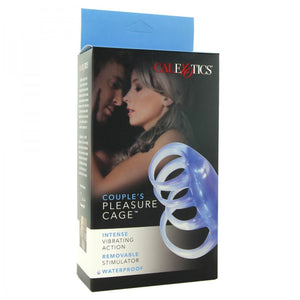 CalExotics Couples Pleasure Cage Cock Rings - Vibrating Cock Rings CalExotics
