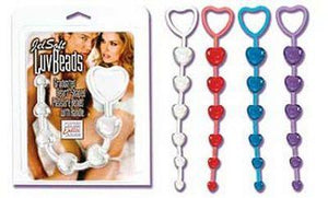 CalExotics Heart Shaped JelSoft Luv Beads Anal - Anal Beads & Balls Calexotics