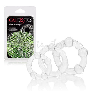 CalExotics Island Rings Clear (Newly Replenished on May 19) Cock Rings - Cock Ring Sets Calexotics