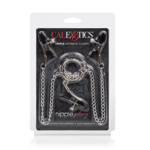 CalExotics Nipple Play Triple Intimate Clamps Nipple Toys - Nipple Clamps CalExotics