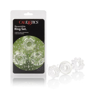CalExotics Reversible Ring Set Cock Rings - Stretchy Cock Rings CalExotics