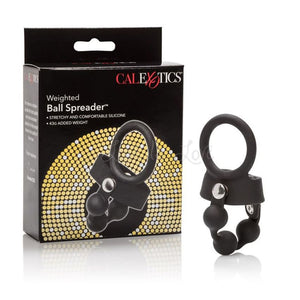 CalExotics Weighted Ball Spreader - 43G Added Weight Cock Rings - Ball Dividers/Stretchers CalExotics