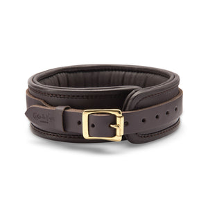 Coco de Mer Leather Collar Brown Bondage - Collars & Leash Coco de Mer