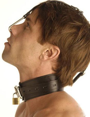 Collar With Nose Hook Bondage - Collars & Leash Master Series