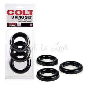 Colt 3 Ring Set Cock Rings - Cock Ring Sets Colt by CalExotics