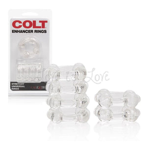 Colt Enhancer Rings Clear Cock Rings - Stretchy Cock Rings Colt by CalExotics