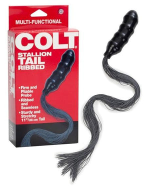 Colt Stallion Tail Ribbed Anal - Tail & Jewelled Butt Plugs Colt by CalExotics