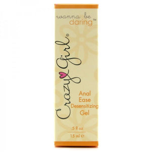 Crazy Girl Wanna Be Daring Anal Ease Desensitizing Gel 15ML 0.5 FL OZ Lubes & Toy Cleaners - Anal Lubes & Creams Crazy Girl