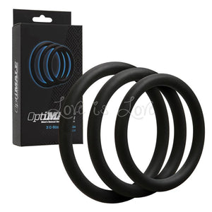 Doc Johnson OptiMale 3 C-Ring Set Thin Black (Newly Replenished on May 19) Cock Rings - Cock Ring Sets Doc Johnson