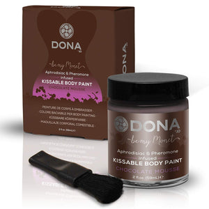Dona Kissable Body Paint Chocolate Mousse 2 FL OZ 60 ML For Us - Sexy Massage Dona by JO