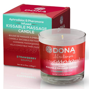 Dona Kissable Massage Candle Strawberry Souffle For Us - Sexy Massage Dona by JO