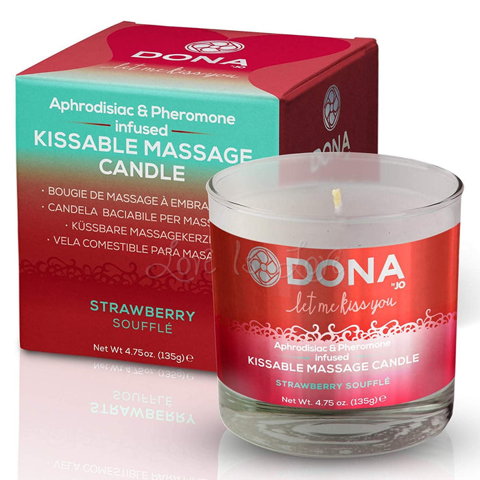 Dona Kissable Massage Candle Strawberry Souffle ( Limited Stock )