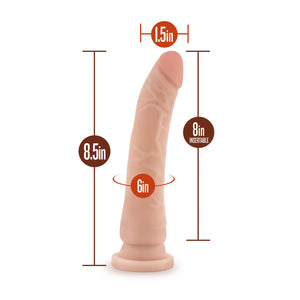 Blush Novelties Dr. Skin Realistic Cock Basic 8.5 Inch Beige buy in Singapore LoveisLove U4ria