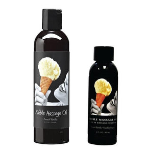 Earthly Body Edible Massage Oil French Vanilla 2 FL OZ or 8 FL OZ (Newly Replenished on Apr 19) Enhancers & Essentials - Aromas & Stimulants Earthly