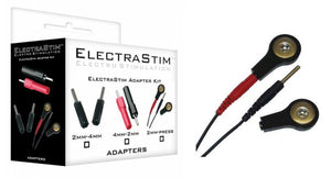 ElectraStim 2mm Pin To 4mm Press Stud Converter Kit ElectroSex Gear - ElectraStim ElectraStim