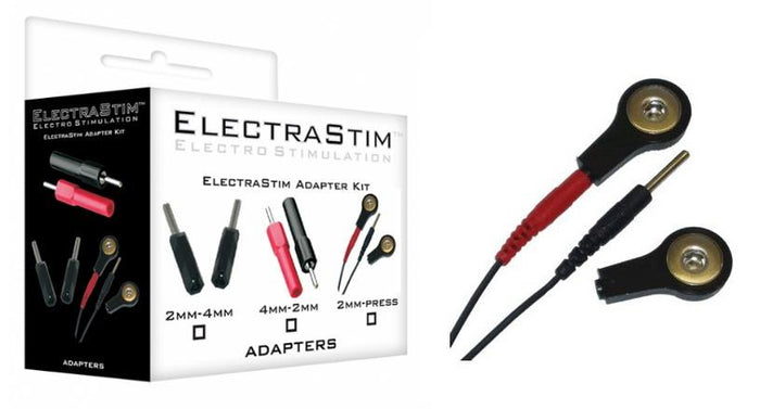 ElectraStim 2mm Pin To 4mm Press Stud Converter Kit