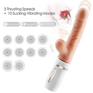 Erocome Cepheus Sucking Thrusting Heating Dildo Rabbit Vibrator Vibrators - Clit Stimulation & G-Spot Erocome