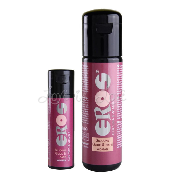 Eros Silicone Glide And Care Lube for Woman 30 ml or 100 ml