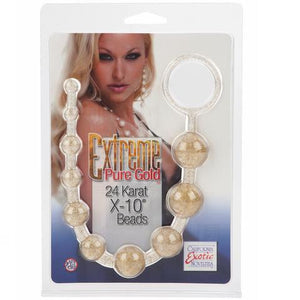 Extreme Pure Gold Platinum X10 Beads ( Last Piece At Midpoint Orchard Branch) Anal - Anal Beads & Balls Calexotics
