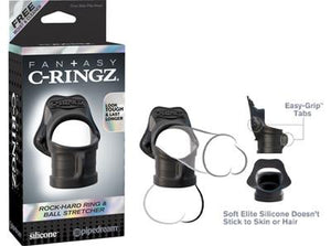 Fantasy C-Ringz Rock Hard Ring & Ball-Stretcher For Him - Fantasy C-Ringz Fantasy C-Ringz