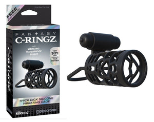 Fantasy C-Ringz Thick Dick Silicone Vibrating Cage For Him - Fantasy C-Ringz Fantasy C-Ringz