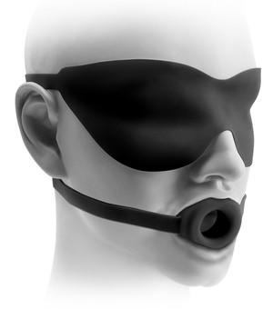 Fetish Fantasy Elite Silicone Open-Mouth Gag And Mask Bondage - Ball & Bit Gags Pipedream Products