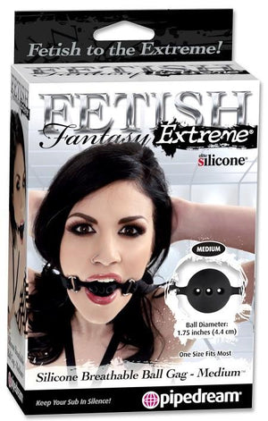 Fetish Fantasy Extreme Silicone Breathable Locking Ball Gag in Small, Medium or Large Bondage - Ball & Bit Gags Pipedream Products Medium