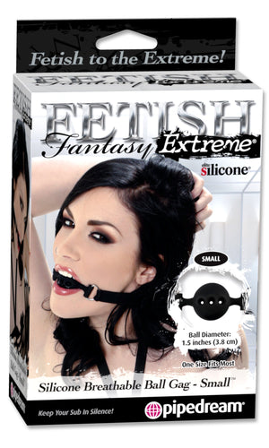 Fetish Fantasy Extreme Silicone Breathable Locking Ball Gag in Small, Medium or Large Bondage - Ball & Bit Gags Pipedream Products Small