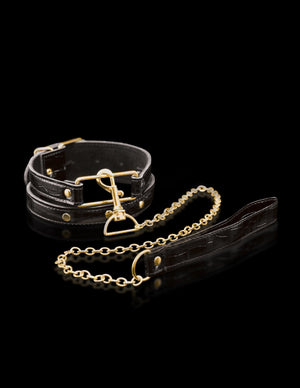 Fetish Fantasy Gold Collar And Leash Bondage - Collars & Leash Pipedream Products