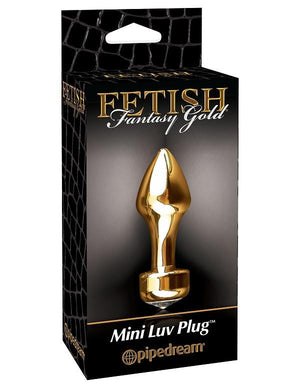 Fetish Fantasy Gold Mini Luv Plug Anal - Premium Luxury Anal Toys Pipedream Products
