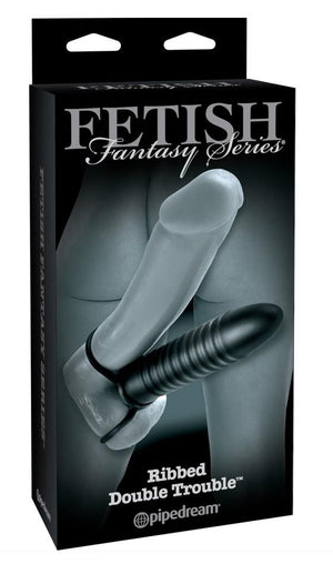 Fetish Fantasy Limited Edition Ribbed Double Trouble For Him - Cock Rings Pipedream Products