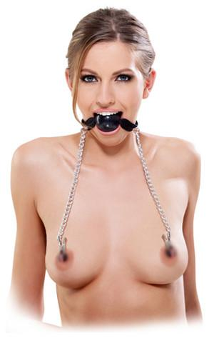 Fetish Fantasy Series Ball Gag And Nipple Clamps Bondage - Ball & Bit Gags Pipedream Products