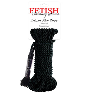 Fetish Fantasy Series Deluxe Silky Rope 32 Feet 9.75m Black ( Newly Replenished on May 19) Bondage - Ropes & Tapes Pipedream Products