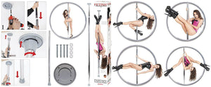 Fetish Fantasy Series Fantasy Dance Pole Bondage - Sex Slings & Swings Pipedream Products
