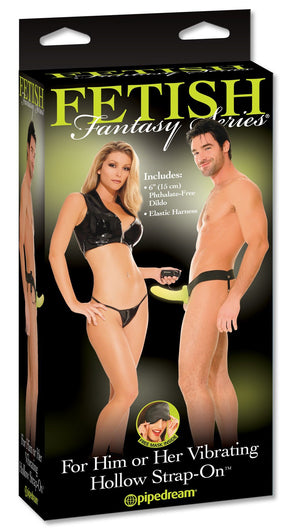 Fetish Fantasy Series Glow In The Dark Vibrating Hollow Strap-On Strap-Ons & Harnesses - Hollow Strap-Ons Pipedream Products