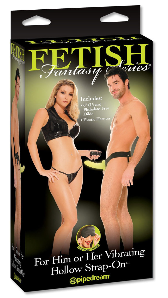 Fetish Fantasy Series Glow In The Dark Vibrating Hollow Strap-On