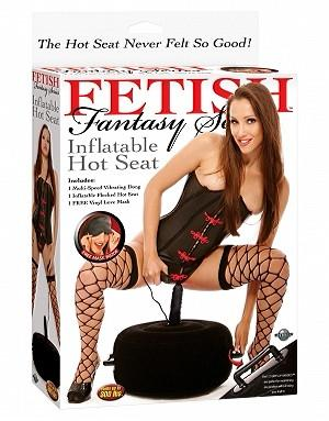 Fetish Fantasy Series Inflatable Hot Seat Black For Us - Sex Furniture Pipedream Products