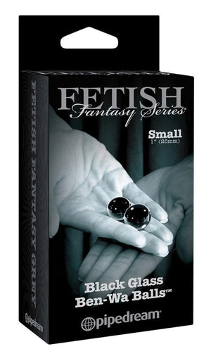 Fetish Fantasy Series Limited Edition Black Glass Ben Wa Balls Small And Medium Sizes Anal - Anal Beads & Balls Pipedream Products