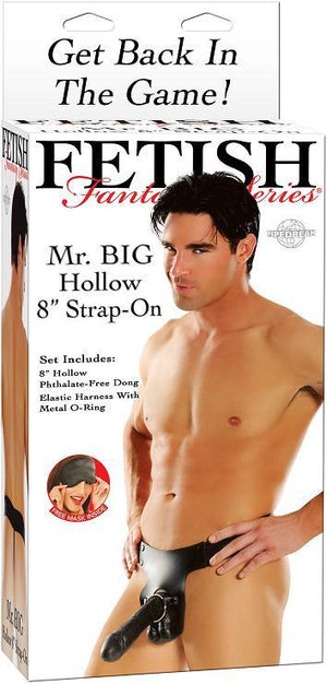 "Fetish Fantasy Series Mr. Big Hollow 8"" Strap-On Strap-Ons & Harnesses - Hollow Strap-Ons Pipedream Products"