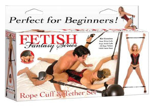Fetish Fantasy Series Rope Cuff and Tether Set Bondage - Bedroom Bondage Kits Pipedream Products