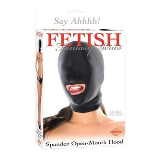 Fetish Fantasy Series Spandex Open Mouth Hood Bondage - Hoods & Muzzles Pipedream Products