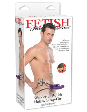 Fetish Fantasy Series Wonderful Wabbit Hollow Strap-On Strap-Ons & Harnesses - Hollow Strap-Ons Pipedream Products